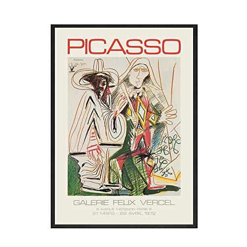 Wohnkultur Retro-Stil Poster Wandkunst Leinwanddrucke Piccaso Gemälde Bild für Wohnzimmer Modular No Frame A 20x30cm