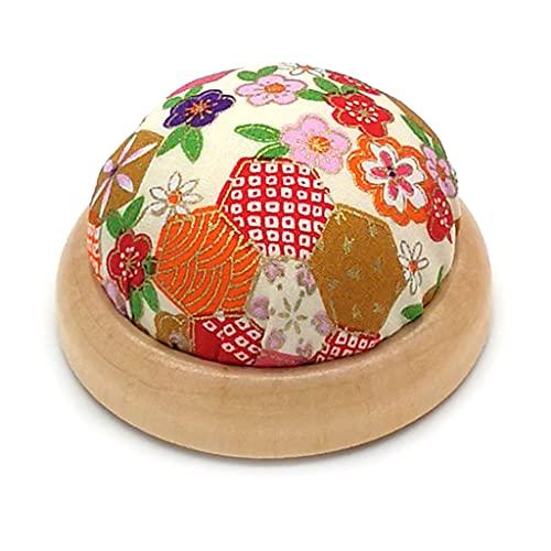 PHILSP MYhose Cojín en Forma de Bola Preciosa del alfiler de Aguja, Estera de la Costura de la Puntada del alfiletero del Tenedor Beige