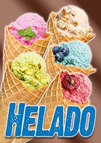Cartel'HELADO' - DINA1-100% Wasserfest