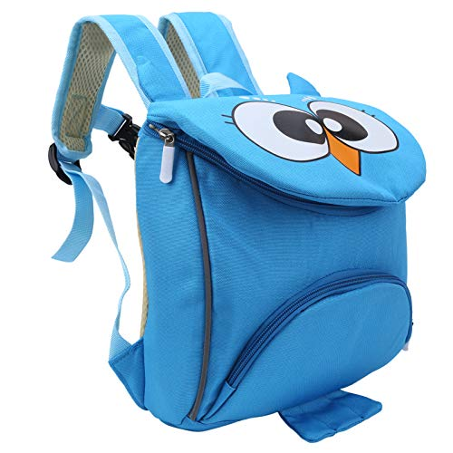 banapoy Baby Safety Bag, Toddler Backpack, Durable Cool for Shopping Travel School 3 To 6 Years Old Baby(Owl blue)