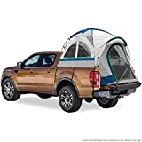 North East Harbor Pickup Truck Bed Camping Tent, 2-Person Sleeping Capacity, Includes Rainfly and Storage Bag - Fits Full Size Truck with Regular Bed - 76'-80' (6.4'-6.7') - Gray and Blue