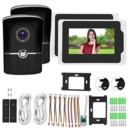 Cámara de la puerta Full Glass Cam Video Timbre de seguridad Smart 110° Visión nocturna para Tuya 100‑240V para el jardín del hogar (regulación británica)
