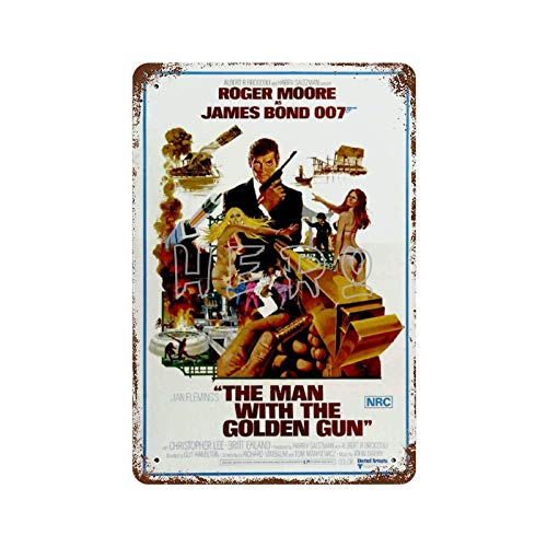 James Bond 007 Serie de Películas Sexy Belleza Medias (9) Vintage Tin Sign Art Iron Painting Rusty Poster Decoración Placa de Aluminio Personalidad Interesante Banda Película Para Hotel Cafe