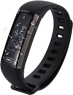 EMEBAY - Smart Wristband Bracelet Fitness Tracker Blood Pressure Oxygen Oximeter Passometer Heart Rate Tracker App for iOS Android