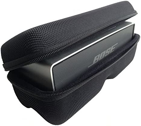 CASEBUDi Tough Speaker Case Made for Bose SoundLink Mini and Mini 2 Black Ballistic Nylon product image