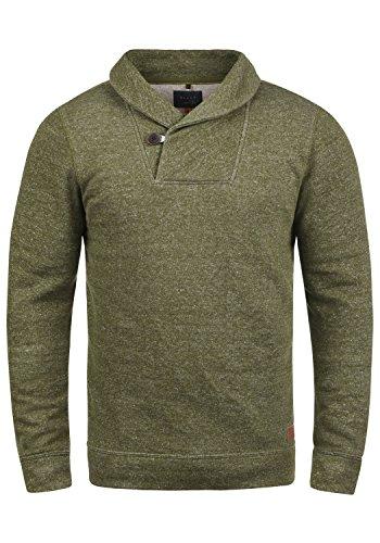 Blend Janosch Herren Sweatshirt Pullover Pulli Mit Schalkragen, Größe:S, Farbe:Ivy Green (77026)
