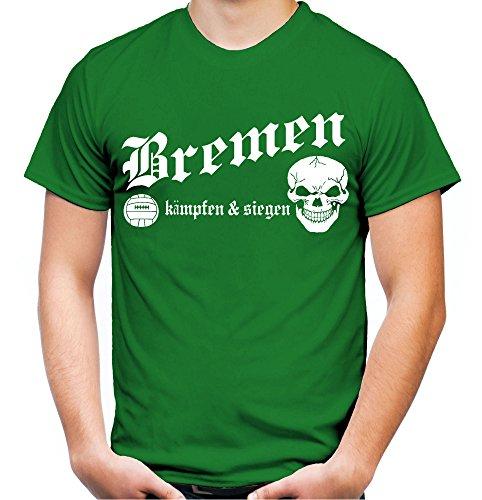 Bremen kämpfen & Siegen Männer und Herren T-Shirt | Fussball Ultras Geschenk | M1 (XXL, Grün)