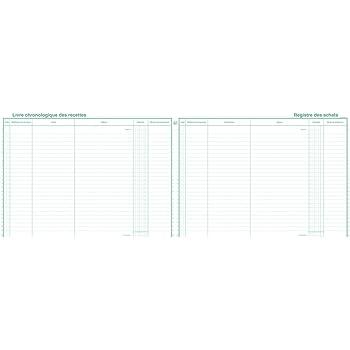 Exacompta 4410E Livre Recettes-registre Achats pour Auto Entreteneur Format 24 X 32 80 Pages