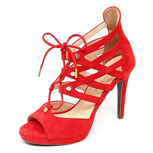 Trussardi D2910 Sandalo Donna Red Jeans Shoe Woman [38]