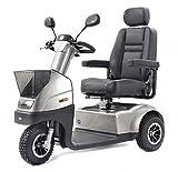 TGA Mobility Breeze Midi 3 Wheel 8 mph Mobility Scooter - Metallic Silver