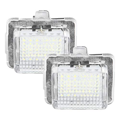 KIMISS Luce targa per auto -2 pezzi ABS Luce targa LED Lampada lampada per Classe C S204 5 porte station wagon/estate 2008-2012