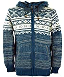 GURU SHOP Chaqueta de punto de lana Nepal, antracita, para hombre, lana, chaquetas, cárdigans, ponchos, alternativa Modelo 22. M