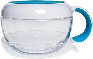 Pote de Lanche Infantil com Alça Tot Flippy Snack Cup Azul, 230 ml, Oxotot, Azul