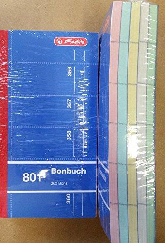 10x herlitz Bonbuch Nr. 801 Formularbuch 360 Bons / Abrisse mit Blaupapier