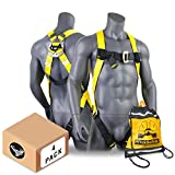 KwikSafety (Charlotte, NC) 4 PACK TORNADO 1D Fall Protection Full Body Safety Harness | OSHA ANSI Industrial Roofing Personal Protection Equipment | Construction Carpenter Scaffolding Contractor