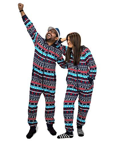 NOROZE Christmas Onesie familj matchande sovkläder semester nattdräkt gåvor för män kvinnor pojkar flickor pappa myskläder overall