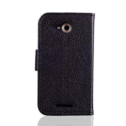 caseroxx Handy Hülle Tasche kompatibel mit Phicomm Clue M Bookstyle-Hülle Wallet Hülle in schwarz