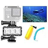 Orsda Video Tauchlampe 30M Wasserdicht 3W 3 LED Tauchlampe Videoleuchte+ Schwimmender Handgriff...