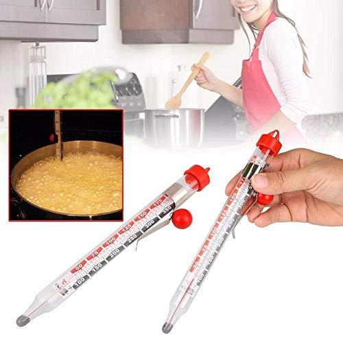 Wilk Temperaturmesswerkzeug Glass Candy-Thermometer-Küche Kochen Haushalt Temperaturmessgeräte Küche Temperatur Haus-