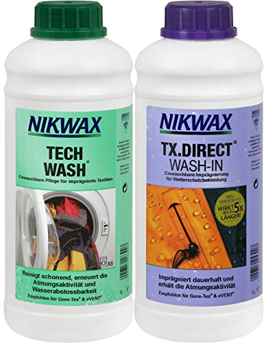 Nikwax Bekleidungswaschmittel Tech Wash+TX-Direct, 2x1l, transparent, One size, 303410000