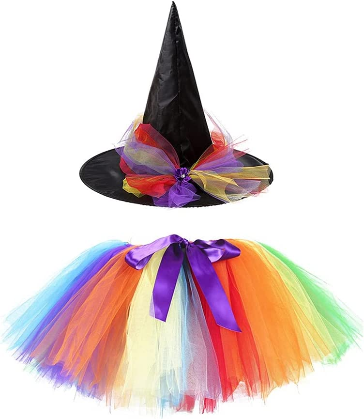 gift Witch Costume with Hat for Family Women Time sale Hallowee Tutus