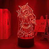Lámpara de ilusión 3D, luz nocturna 3D, Ibuki Mioda, luz 3D, visual, anime, Danganronpa, LED, luz nocturna para niñas, dormitorio, decoración, cumpleaños, lámpara de mesa, 7 colores