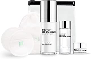 BIOEFFECT EGF Day Serum with Hyaluronic Acid and Plant-Based EGF, Anti-Aging Skin Care Gift Set Includes Deluxe Micellar W...