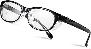 Occffy 花粉症 メガネ 防塵 花粉防止眼鏡 曇らない 花粉対策メガネ おしゃれ な 眼鏡 1088 (ブラックフレーム)