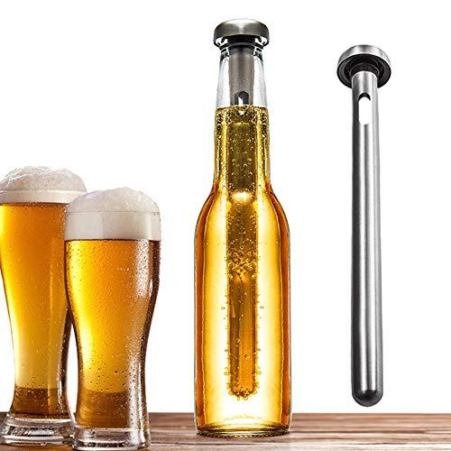 Merrday Bebidas de Acero Inoxidable Enfriador de Cerveza Palo Botella de Bebida Varilla Palillos de enfriamiento portátiles instantáneos Vaso de Acero Inoxidable Enfriador de Mosto de Cerveza