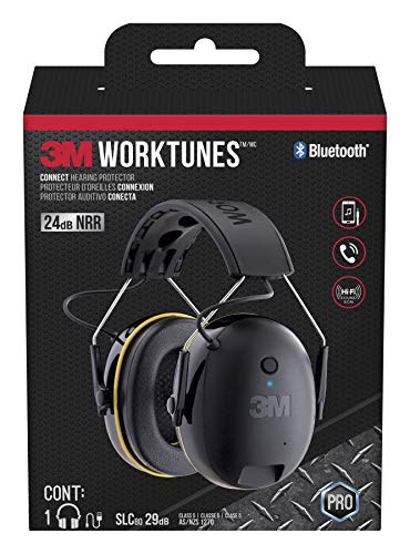 3M WorkTunes Connect Hearing Protector with Bluetooth...