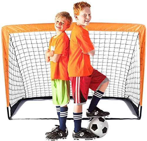 Suny Smiling Porta da Calcio, 4'x3' Rete da Calcio per Bambini Giardino Allenamento Rete da Calcio da Casa x1 (A)