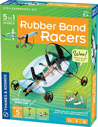 Thames & Kosmos | Rubber Band Racers Kit | Science Kit | Includes Color Education Manual | Science Toy for Kids 8+
