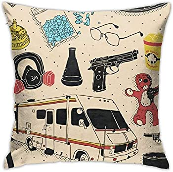 WEIMIN Breaking Bad Symbols Throw Pillow Covers Cotton Linen Cushion Cover Cases Pillowcases Sofa Home Decor Gift 18 x 18 in
