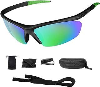 Polarized UV400 Sport Sunglasses Anti-Fog Ideal for...
