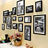 ✔ Material : High Quality Synthetic Wood, unbreakable Plexi Glass and Mdf Back; Color : black ✔ MULTIPLE DISPLAY & WELL MADE: Comes with 16 pcs picture frames in different size, Material : Premium High Quality Synthetic Wood, Engineered wood composit...