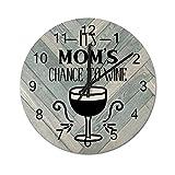 Free Brand Its Moms Chance to Wine - Reloj de pared, diseño