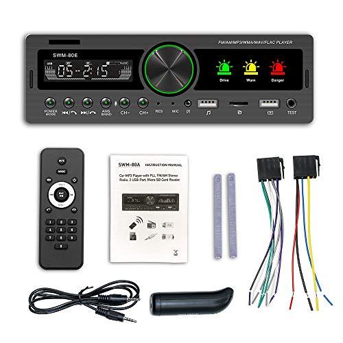 Youmine 1 DIN Coche MP3 Reproductor Multimedia Radio Coche EstéReo Radio Receptor Audio Auto Electronics SWM-80E