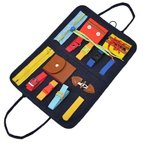 Toddler Busy Board Learn to Dress Toys Board Early Education Develops Basic Skills for Kids