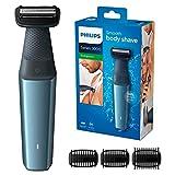 Philips Serie 3000 BG3015/15 - Afeitadora corporal apta para la ducha con 3 peines-guia 50 min de uso