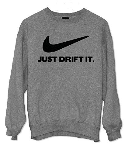 Teequote Just Drift It - Drift und Motorsport Fans Tuning Sweatshirt Grau Medium