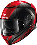 SHARK NC Casco per Moto, Hombre, Negro/Rojo, M
