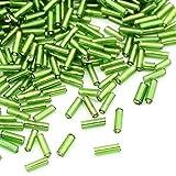 Charming Beads Vetro Perline Verde Bugle 5-9mm x 1.8mm Pacco di 2200+
