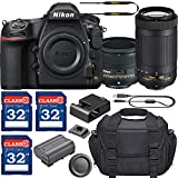 Nikon D850 DSLR Camera with AF-S NIKKOR 50mm f/1.8G Lens & 70-300mm ED Lens + 3 Memory Card Bundle