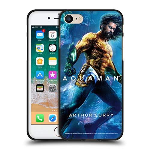 Head Case Designs Ufficiale Aquaman Movie Arthur Curry Poster Cover Nera in Morbido Gel Compatibile con Apple iPhone 7 / iPhone 8 / iPhone SE 2020