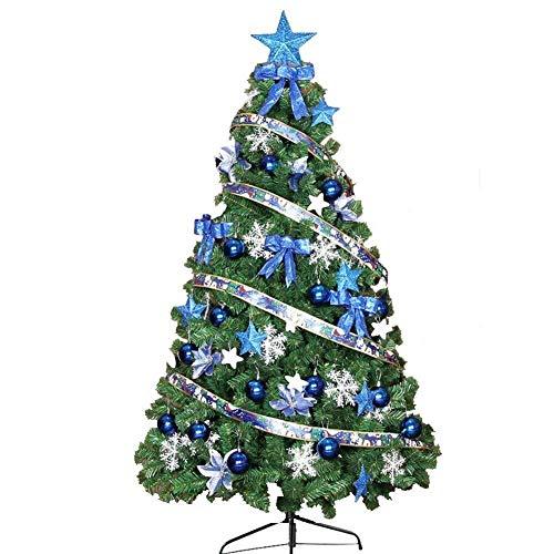 Inicio Equipos Decoraciones para árboles de Navidad Exterior Interior Preiluminado Fibra óptica Árbol de Navidad artificial Pino con luces LED Adornos para decoración navideña Montaje fácil Soporte