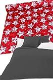 Colcha navideña para cama de matrimonio de algodón biológico, no necesita planchado, para cama individual de una plaza y media, hecha a mano, multiusos, para sofá de Navidad