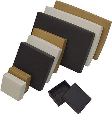Caja de Regalo Grande con Tapa de Caja de cartón pequeña, 10 Unidades, para embalar jabón, Dulces, Cajas de Papel de Color Blanco y Negro, Negro, 10x10x2cm: Amazon.es: Hogar