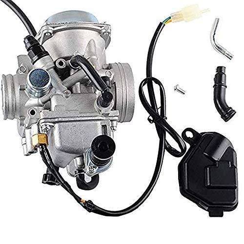 TRX350 Carburetor for 350 Rancher 2000-2006 FE/FM/TE/TM/ES Atv 4 Stroke Carburetor with Black Throttle Base Cover