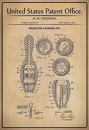 NWFS patent ontwerp voor een kegel - pin metalen bord bord metalen plaat metaal tin teken gewelfd gelakt 20 x 30 cm