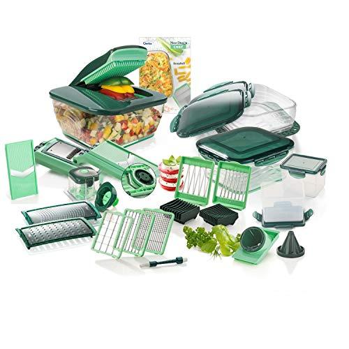 Genius Nicer Dicer Chef Deluxe-Set (34 Teile) Obst- & Gemüseschneider Allesschneider Multischneider Zerkleinerer Mandoline - für die tägliche bewusste und gesunde Ernährung